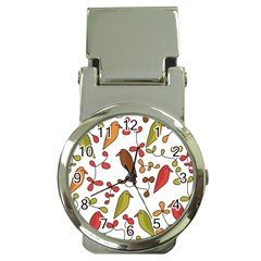 Birds and flowers 3 Money Clip Watches