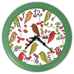Birds and flowers 3 Color Wall Clocks