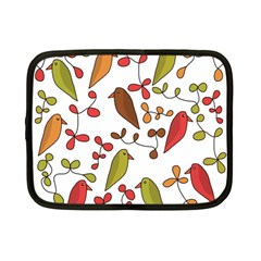 Birds and flowers 3 Netbook Case (Small)