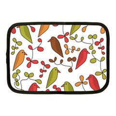 Birds and flowers 3 Netbook Case (Medium)