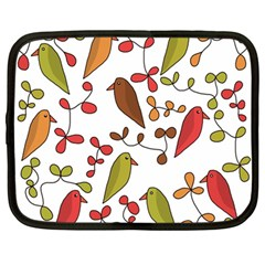 Birds and flowers 3 Netbook Case (Large)
