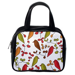 Birds and flowers 3 Classic Handbags (One Side)