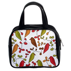 Birds and flowers 3 Classic Handbags (2 Sides)