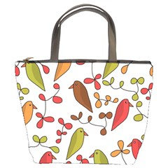 Birds and flowers 3 Bucket Bags