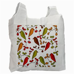 Birds and flowers 3 Recycle Bag (One Side)