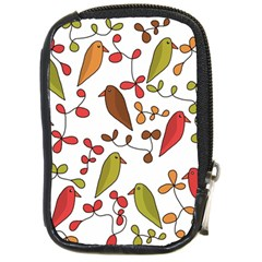 Birds and flowers 3 Compact Camera Cases