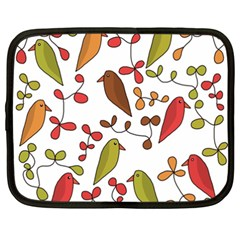 Birds and flowers 3 Netbook Case (XXL)