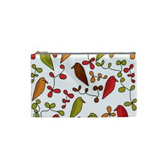 Birds and flowers 3 Cosmetic Bag (Small)