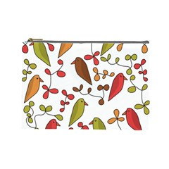 Birds and flowers 3 Cosmetic Bag (Large)
