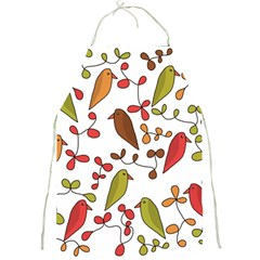 Birds and flowers 3 Full Print Aprons