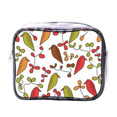 Birds and flowers 3 Mini Toiletries Bags