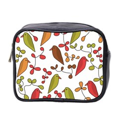 Birds and flowers 3 Mini Toiletries Bag 2-Side