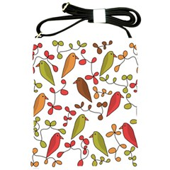 Birds and flowers 3 Shoulder Sling Bags