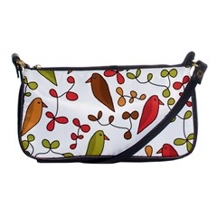 Birds and flowers 3 Shoulder Clutch Bags