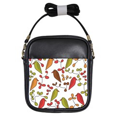 Birds and flowers 3 Girls Sling Bags