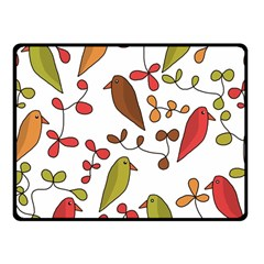 Birds and flowers 3 Fleece Blanket (Small)