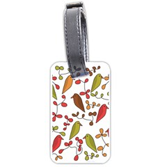 Birds and flowers 3 Luggage Tags (One Side)