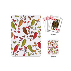 Birds and flowers 3 Playing Cards (Mini)