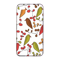 Birds and flowers 3 Apple iPhone 4/4s Seamless Case (Black)