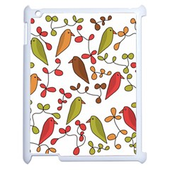 Birds and flowers 3 Apple iPad 2 Case (White)