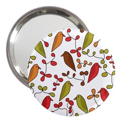 Birds and flowers 3 3  Handbag Mirrors