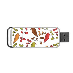 Birds and flowers 3 Portable USB Flash (Two Sides)