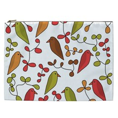 Birds and flowers 3 Cosmetic Bag (XXL)