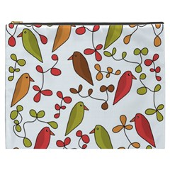 Birds and flowers 3 Cosmetic Bag (XXXL)