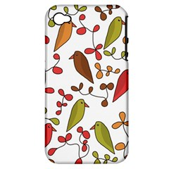 Birds and flowers 3 Apple iPhone 4/4S Hardshell Case (PC+Silicone)