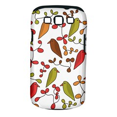 Birds and flowers 3 Samsung Galaxy S III Classic Hardshell Case (PC+Silicone)