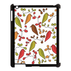 Birds and flowers 3 Apple iPad 3/4 Case (Black)