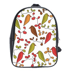 Birds and flowers 3 School Bags (XL)