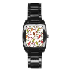 Birds and flowers 3 Stainless Steel Barrel Watch
