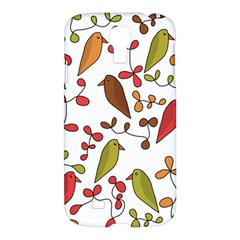Birds and flowers 3 Samsung Galaxy S4 I9500/I9505 Hardshell Case