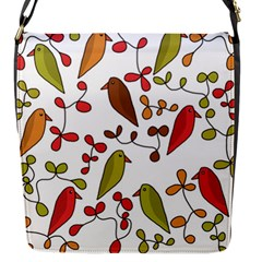 Birds and flowers 3 Flap Messenger Bag (S)