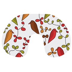Birds and flowers 3 Travel Neck Pillows