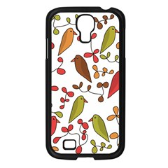 Birds and flowers 3 Samsung Galaxy S4 I9500/ I9505 Case (Black)