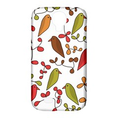 Birds and flowers 3 Samsung Galaxy S4 Classic Hardshell Case (PC+Silicone)