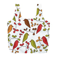 Birds and flowers 3 Full Print Recycle Bags (L)
