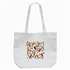 Birds and flowers 3 Tote Bag (White)