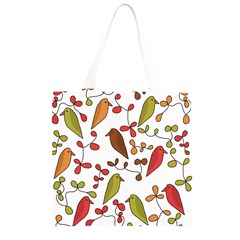 Birds and flowers 3 Grocery Light Tote Bag