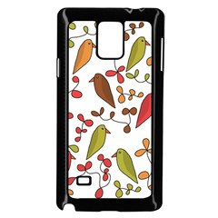 Birds and flowers 3 Samsung Galaxy Note 4 Case (Black)