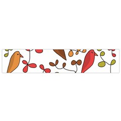Birds and flowers 3 Flano Scarf (Small)