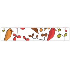 Birds and flowers 3 Flano Scarf (Large)