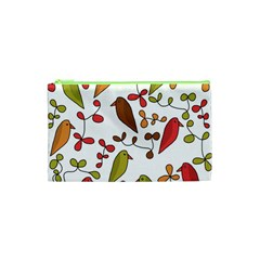 Birds and flowers 3 Cosmetic Bag (XS)