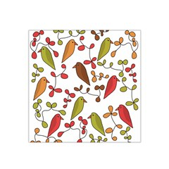 Birds and flowers 3 Satin Bandana Scarf