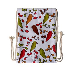 Birds and flowers 3 Drawstring Bag (Small)