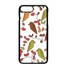 Birds and flowers 3 Apple iPhone 7 Plus Seamless Case (Black)