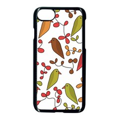 Birds and flowers 3 Apple iPhone 7 Seamless Case (Black)
