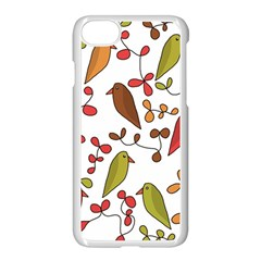 Birds and flowers 3 Apple iPhone 7 Seamless Case (White)